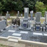 名張市下比奈知の永福寺様でお墓の工事をしました。(尺角芝台付き神戸型)愛媛県産の大島石を使用しました。また、他の墓地から古い石碑を移設して、再建立しました。